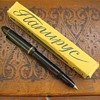 Vintage Ball Point Pen Brass Point Bakelite Barrel and Cap Rare Fixed Ink Tank