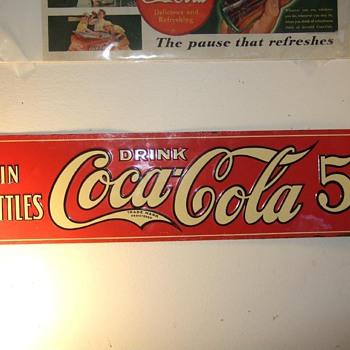 Rare 1922 Coca-Cola sign