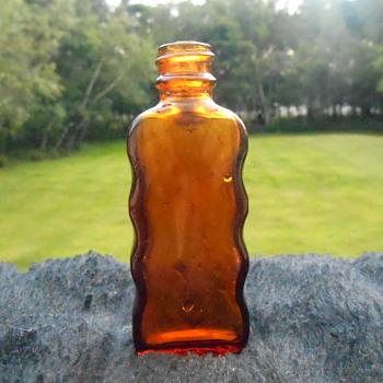 Sweet Little Old Amber Bottle