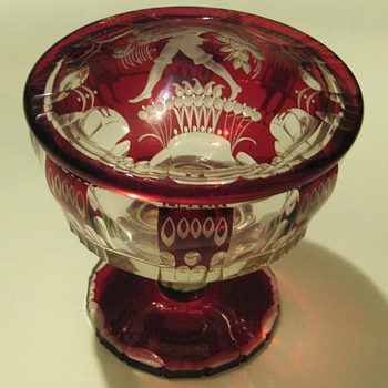 Oertel Haida Glass Box with Lid 1915/20 Bohemia - Art Glass