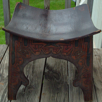 Antique Carved Backless Chair  - Furniture