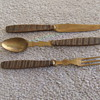 WW1 Trench Art knife, fork and spoon