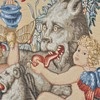 19th century French Tapestry: cherub and mythical animal