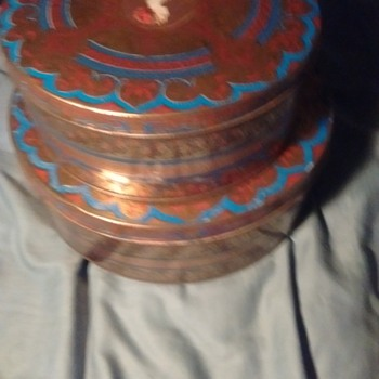 a few of my finds some old fruit cake tins