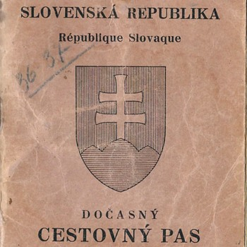 1940 Slovakian refugee passport