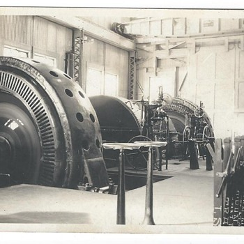 early 1900's photos of the De Sabla powerhouse supplying Oakland and San Francisco