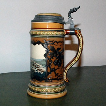 German Beer Stein - Brought from Germany in 1871 - Breweriana
