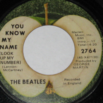 You know my name The Beatles  recorded in england 2764