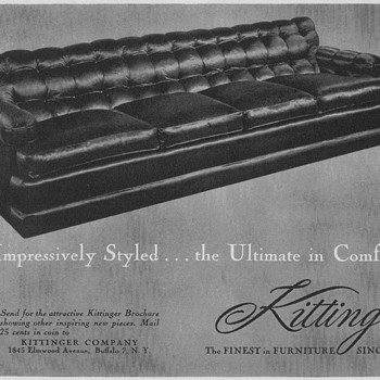 1950 Kittinger Furniture Advertisement - Advertising