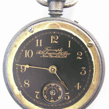 Ingersoll Stem Wind/Pin Set Engraved Movement - Pocket Watches