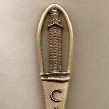 "Souvenir Spoon - ""Citrus Tower - Florida"" - Advertising"