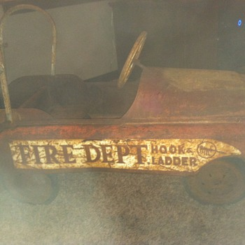 amf fire department pedal car