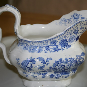 Blue and White Porcelain Gravy Boat - China and Dinnerware