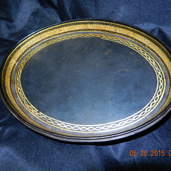Help with any information on this Gold Gilt Tray - Papier Mache Maybe?? - Paper