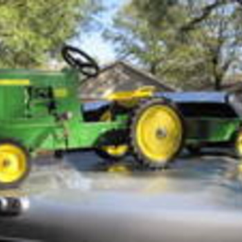 My Uncles John Deere Pedal Tractor 4020 Diesel Childs Toy W/Trailer - Tractors