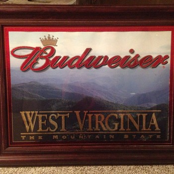 Budweiser mirrored picture!  - Breweriana