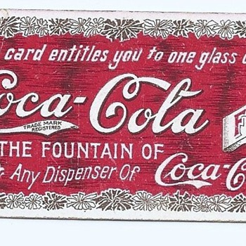 1906 Coca-Cola Coupon - Coca-Cola