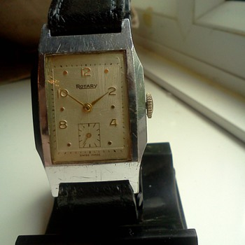 Rotary 15 jewel man's art deco movement, 1920's-30's case. - Wristwatches