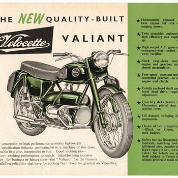 1958 Velocette Valiant Advertising Flyer - Advertising
