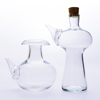 2 jugs designed by Bertil Vallien (Boda, ca. 1960)
