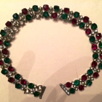 Czech costume jewelry choker