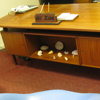 Teak Executive Desk - Office