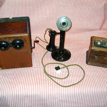 Western Electric Candlestick Telephone 323W with 2 ringers.  - Telephones