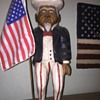 Uncle Sam Wood Statue - I can't find any info on this guy