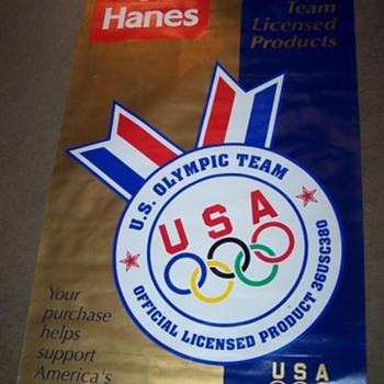 Hanes 1996 authentic Olympic collection banner