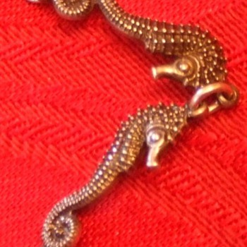 Seahorse bracelet, Carl Schon sterling silver c. 1940s