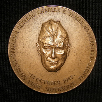 Large Special Congressional  Medal awarded to Charles E. Yeager - Military and Wartime