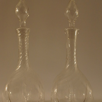 A pair of Edwardian Decanters