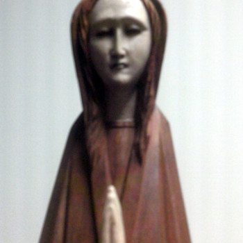 Wood Praying   Madonna?