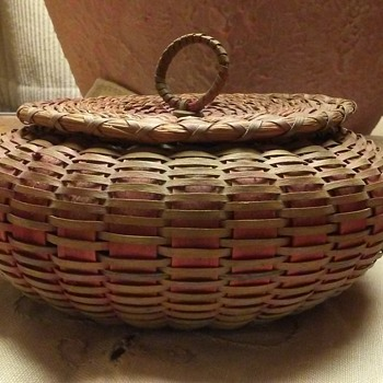 Maine Sea Urchin Basket 1910-1930 - Native American