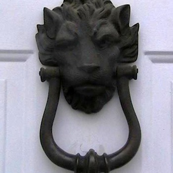Antique Brass Lion Head Doorknocker