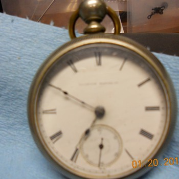 pocket watch from illinios watch co.  1878-1884 says SENATOR-CINCINNATE on inside of movement - Pocket Watches