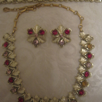 Vtg Coro Parure - Costume Jewelry