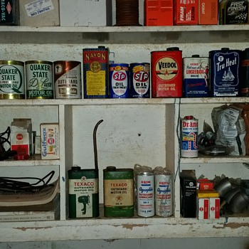 OIL cans I've found cleaning out the basement