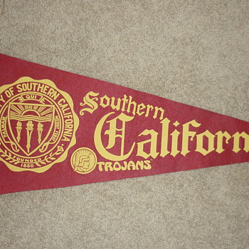 Vintage felt U.S.C. pennant - Football