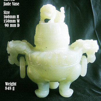 jade incense holder - Asian