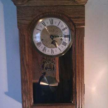cool not that old triple chime oak clock - Clocks
