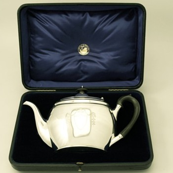 Boxed Edwardian Teapot - Sterling Silver
