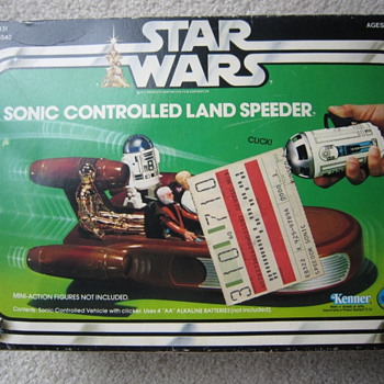 1978 Star Wars Sonic Controlled Land Speeder With Box - Toys