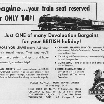 1951 - British Railways Advertisements - Advertising