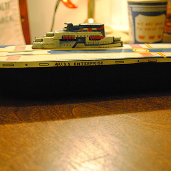 30's/40's Wyandotte Toys USS Enterprise Steel Toy