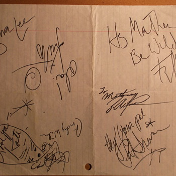the B-52's: Autographs & Backstage Pass (Nashville, TN, 1989) - Music