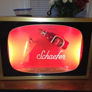 Schaefer Beer advertisement  - Breweriana