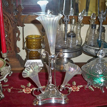Silver plate Epergne - Sterling Silver