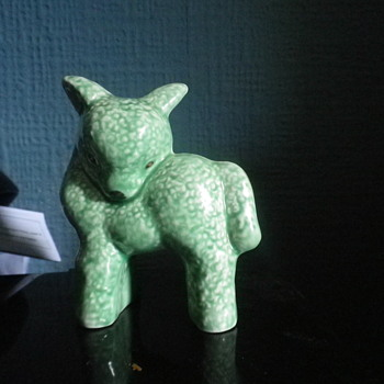 Cutest item in the weekly collection on show and tell. SylvaC 16 59 green and white lamb! - Animals