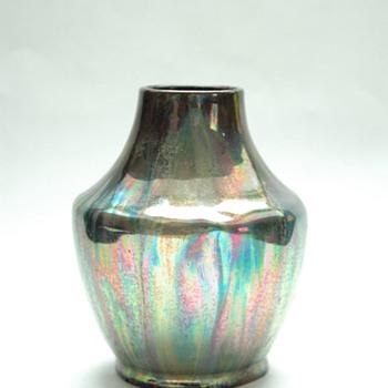 leon elchinger , lustre pottery vase circa 1910 - Art Nouveau